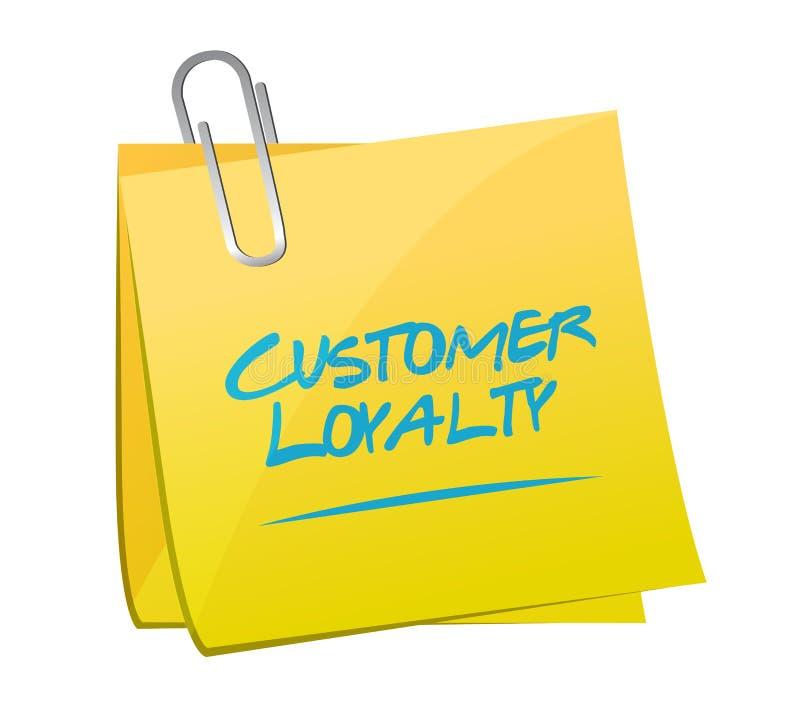 post het tekenconcept van de klantenloyaliteit royalty-vrije illustratie