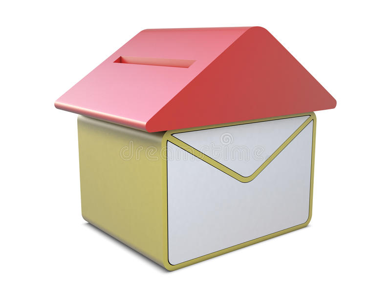 Download Post house icon stock illustration. Illustration of container - 17886063