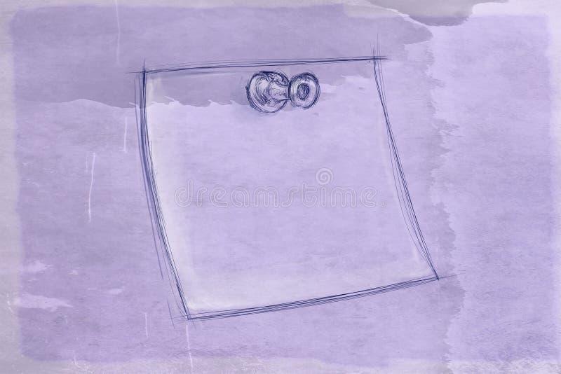Post-itblad met antieke basis royalty-vrije illustratie