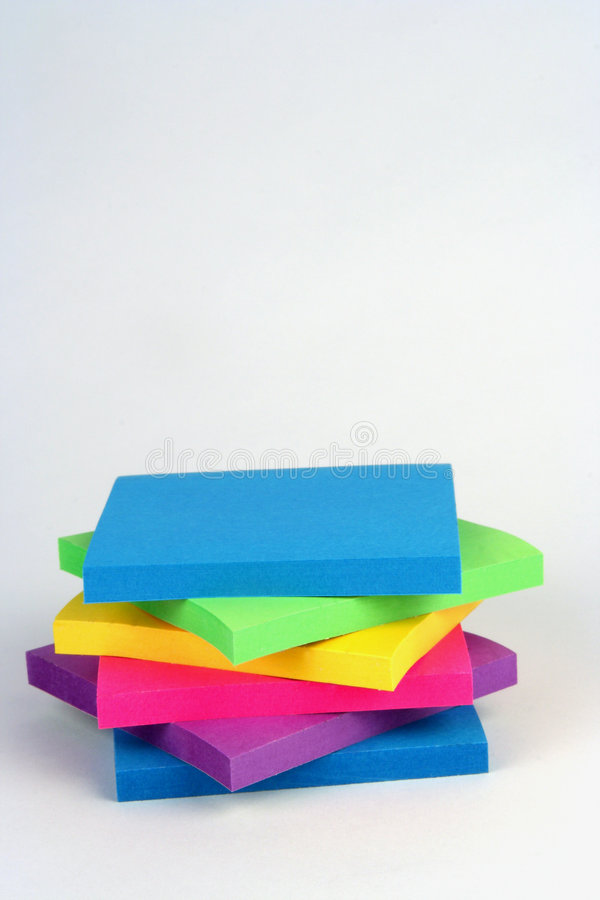 Post-its stock afbeelding