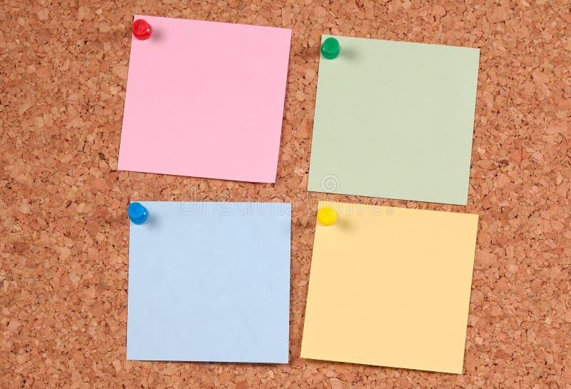 Post-its de couleur image libre de droits