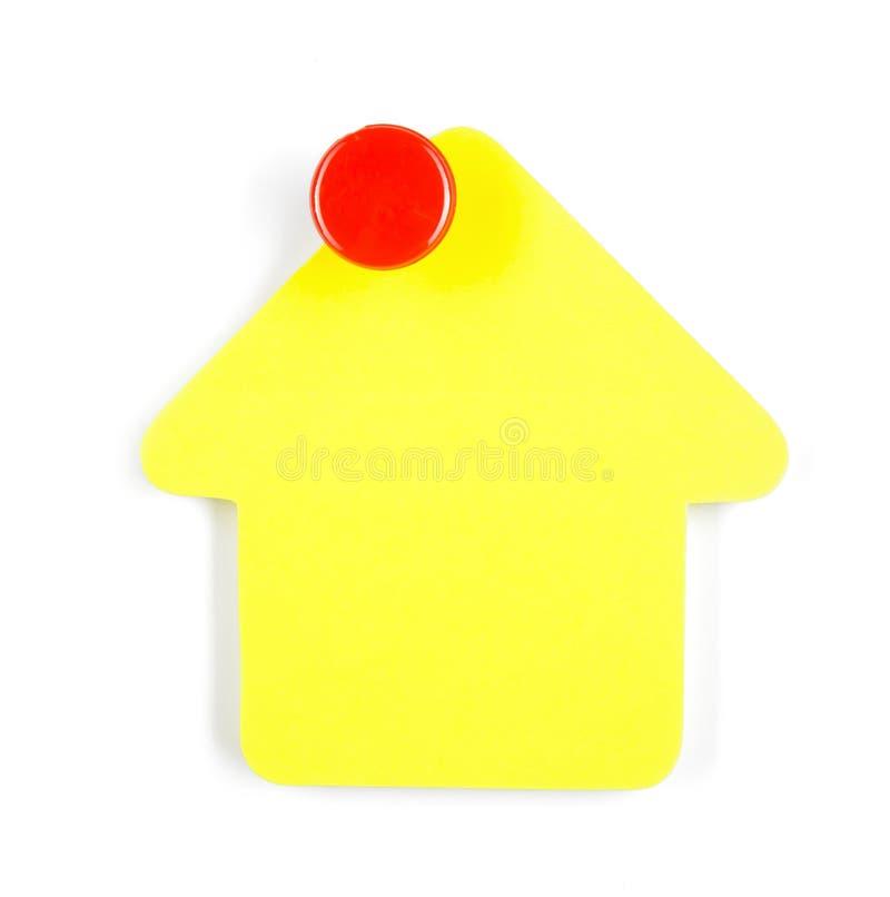Post-it jaune images libres de droits