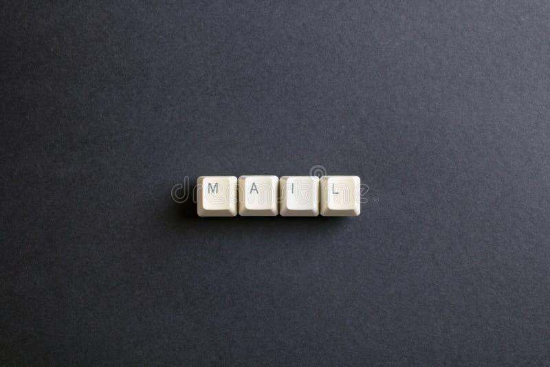 Post-Kommunikations-Verbindungs-globales Buchstabe-Konzept Flache Lage V stockfotos