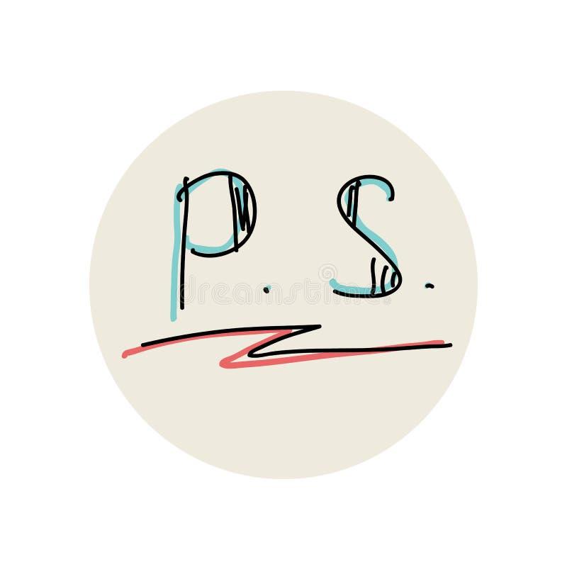 Post$l*script, που υπογραμμίζεται από το βέλος διάνυσμα διανυσματική απεικόνιση