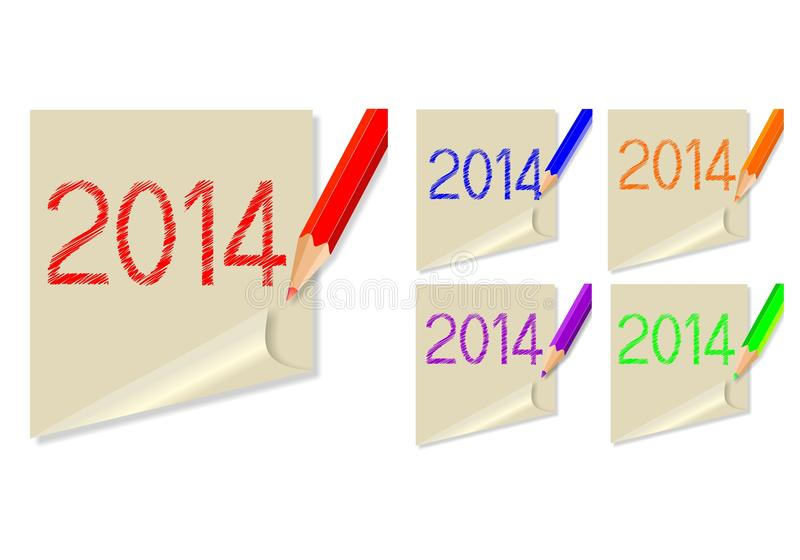 Download Post-it 2014 stock image. Image of january, dates, 2013 - 31095915