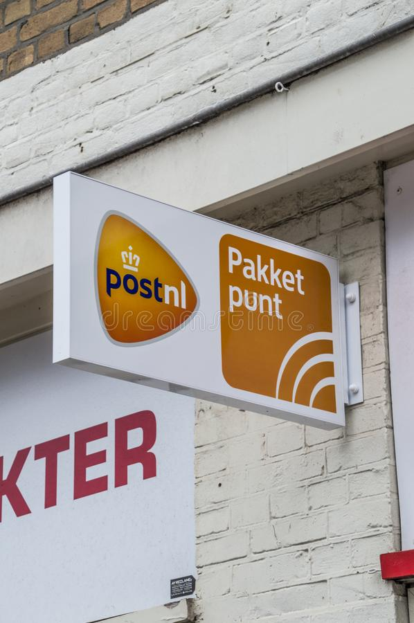 Billboard Post.nl Parcel Pick Up At Amsterdam The Netherlands 2018 royalty free stock image