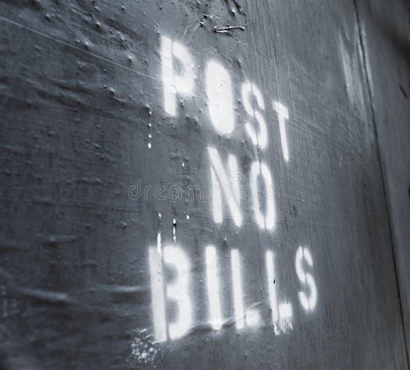 Post No Bills royalty free stock photography