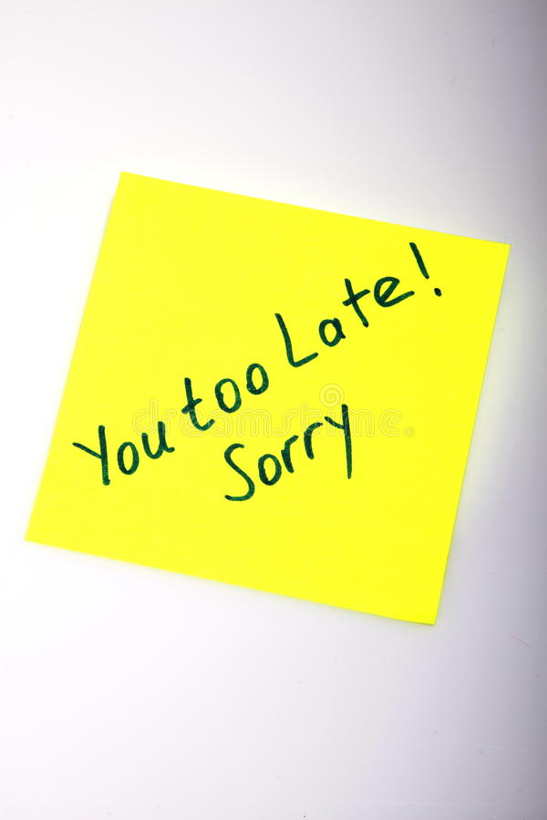Post-it Note Royalty Free Stock Photography