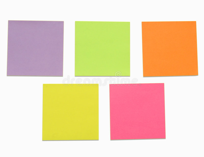 Download Post it note stock image. Image of isolated, correspondence - 4381975
