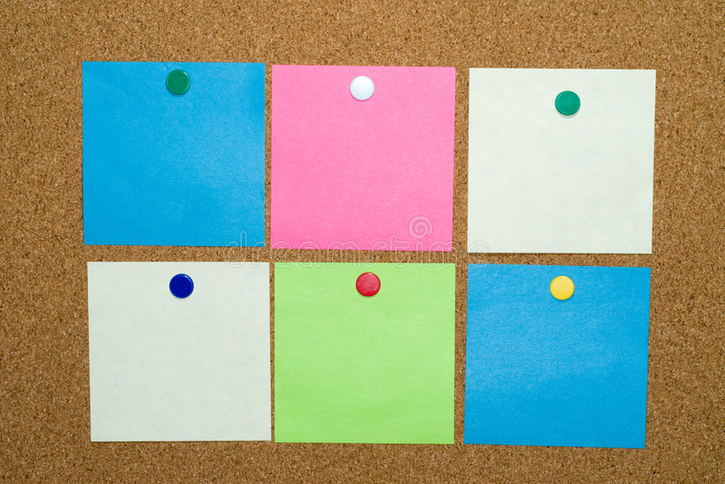 Post A Note Clipping Path Royalty Free Stock Images