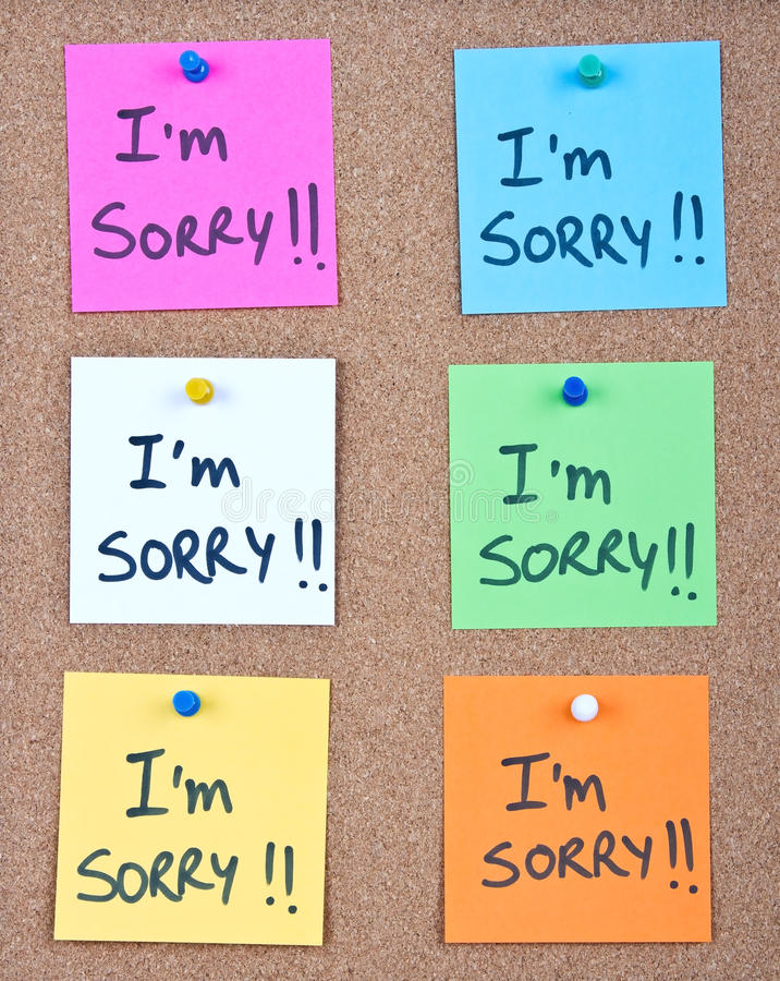 Post it note collage with im sorry stock image image of attach download post it note collage with im sorry stock image image of attach altavistaventures Image collections