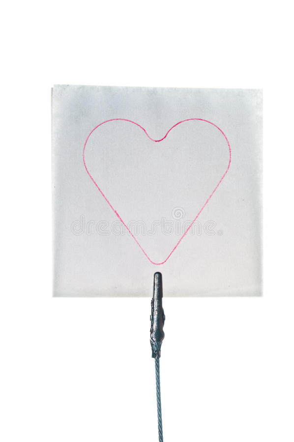 Post-it note with heart shaped