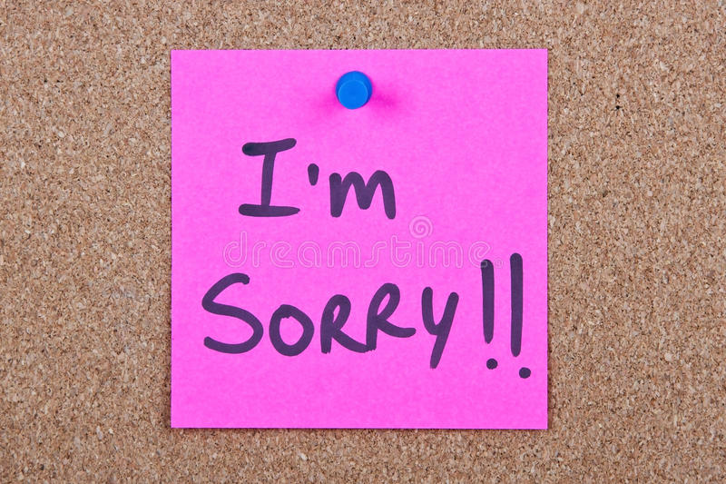 Post it note with im sorry stock photo image of black bulletin download post it note with im sorry stock photo image of black altavistaventures Image collections