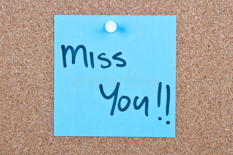 Download Post It Note With Miss You Royalty Free Stock Image - Image: 32322816