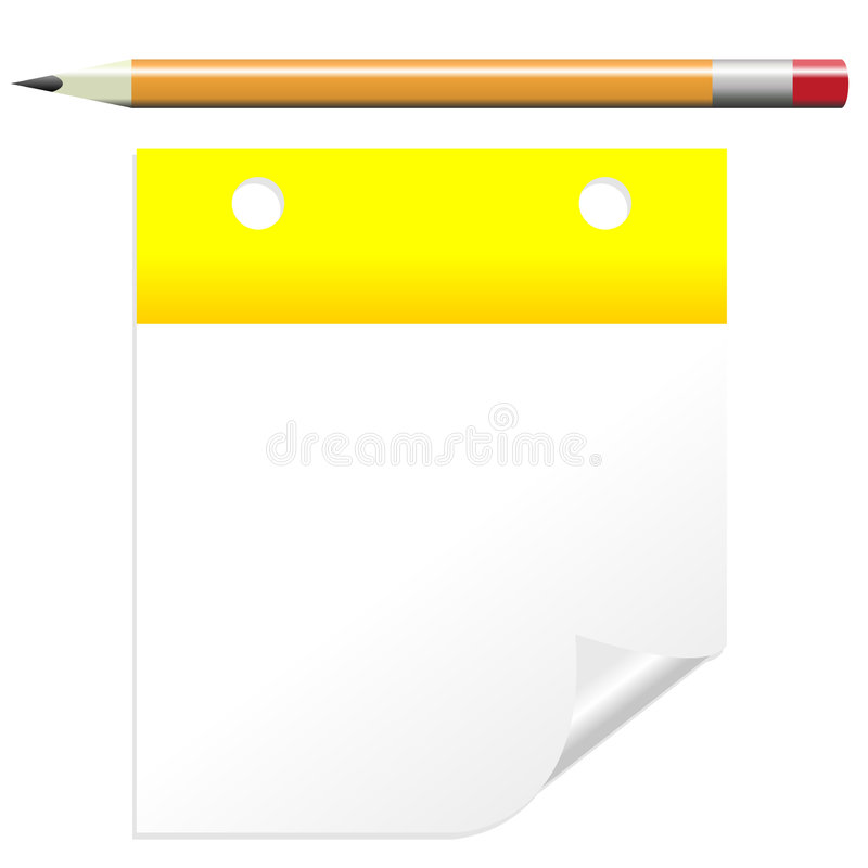 Download Post it note with pencil stock vector. Image of memo, notes - 4749993