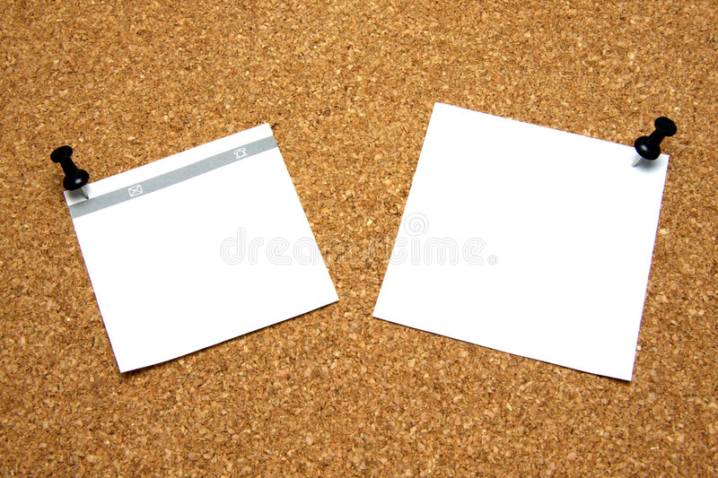 Download Post-it note with pushpin stock photo. Image of background - 5549894