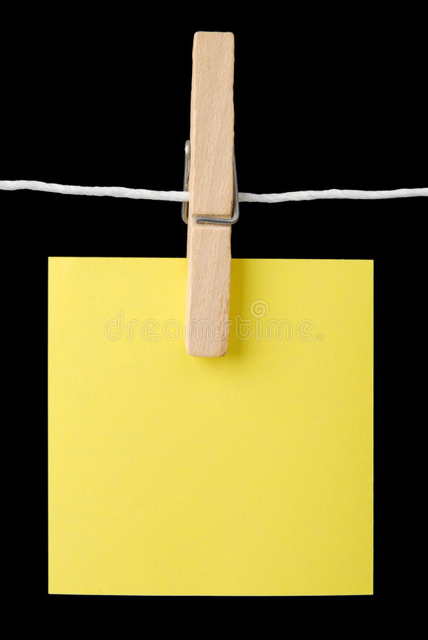 Download Post It Note On A String Stock Photos - Image: 11436293