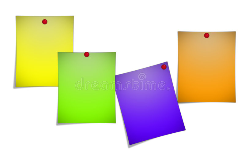Post-it notes royalty free illustration