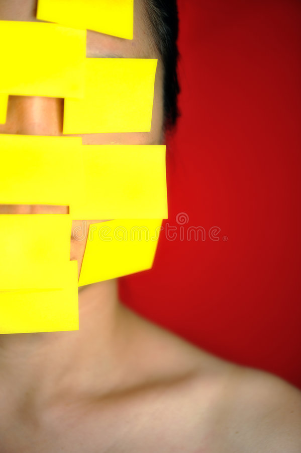Download Post-it notes stock photo. Image of women, young, forgetful - 7187326