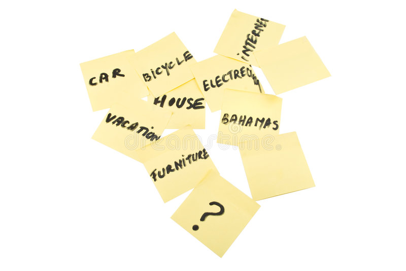Download Post-it notes stock image. Image of list, postit, forgot - 8846395