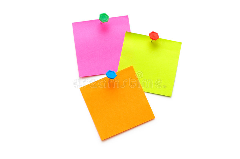 Download Post-it Notes Isolated Royalty Free Stock Photo - Image: 6106775