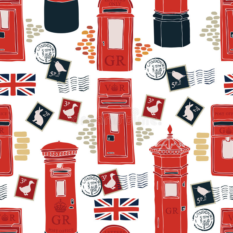 Free Post Office Boxes Background Royalty Free Stock Photo - 44101335