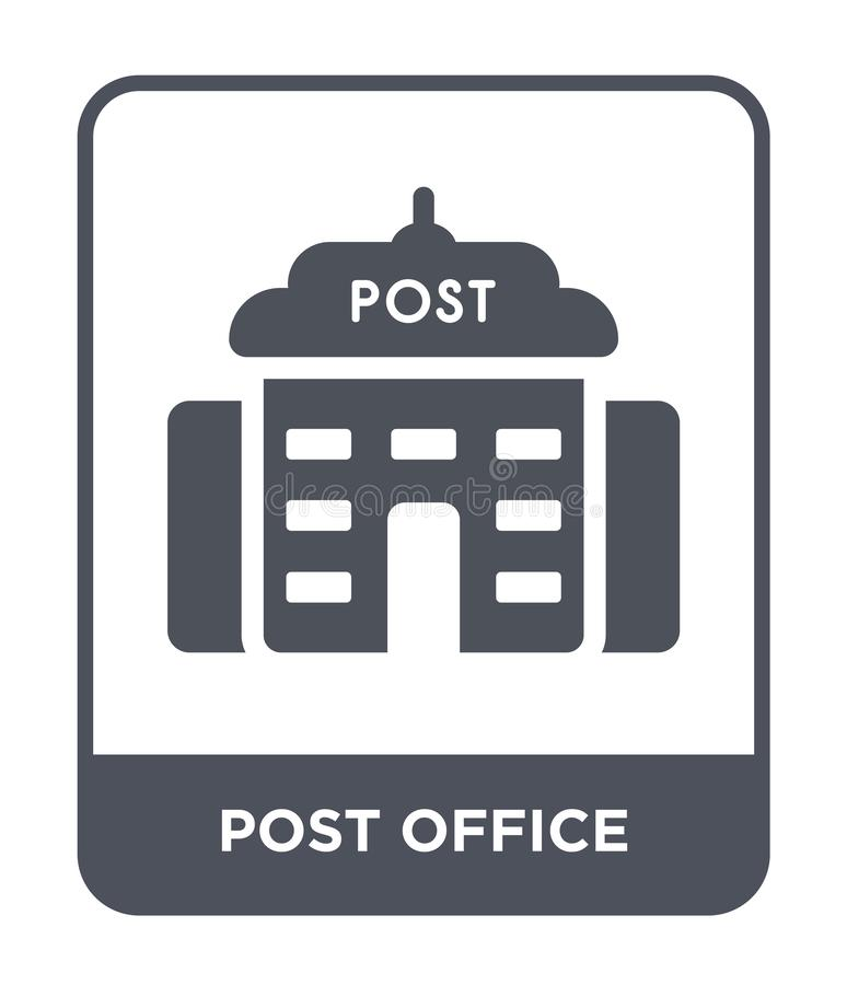 post office icon in trendy design style. post office icon isolated on white background. post office vector icon simple and modern stock illustration