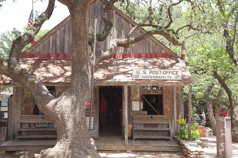 Post Office in Luckenbach, Texas stock images