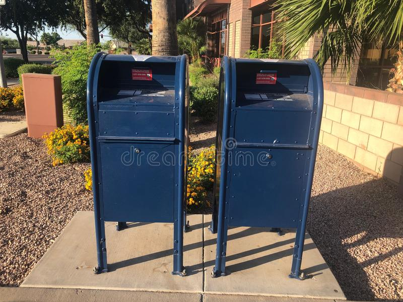 Post office mail box. royalty free stock images