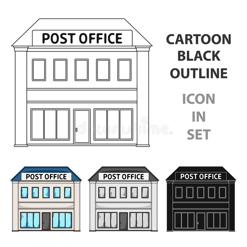 Post Office.Mail And Postman Single Icon In Outline Style