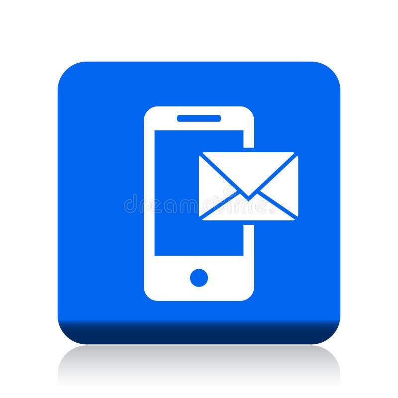 Post op mobiel pictogram vector illustratie
