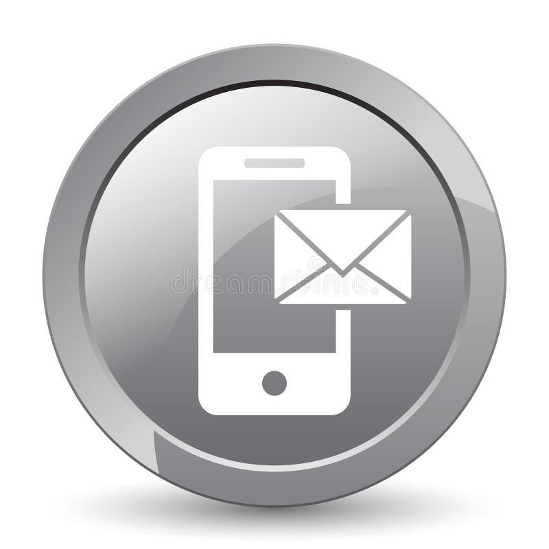 Post op mobiel pictogram royalty-vrije illustratie