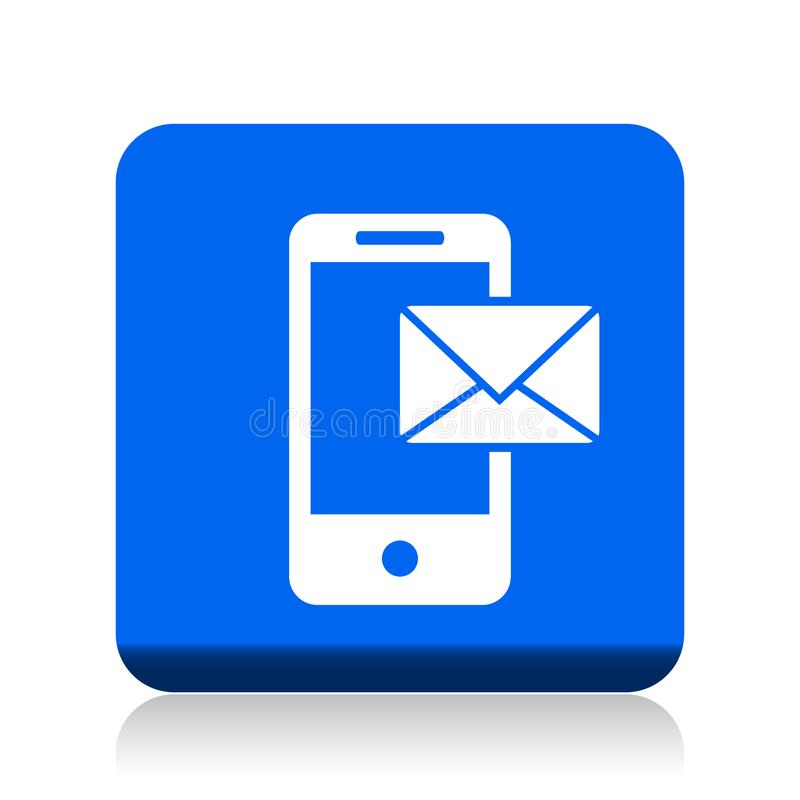 Post på mobil symbol vektor illustrationer