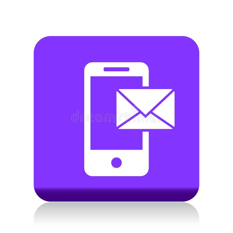 Post på mobil symbol royaltyfri illustrationer