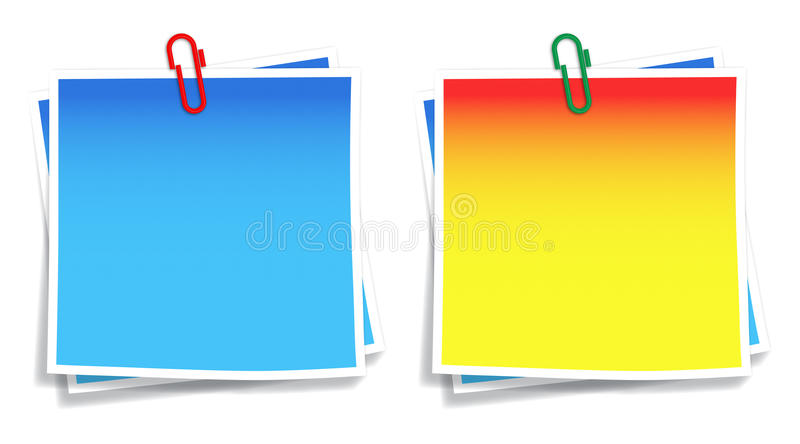 Download Post-it with paperclip stock vector. Image of clips, clip - 31513301