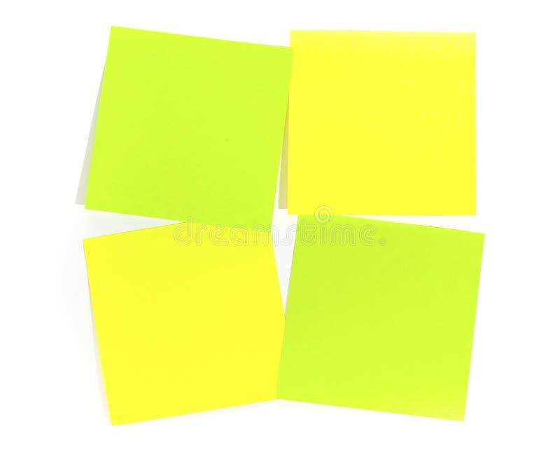 Post-it para la nota del recordatorio imágenes de archivo libres de regalías