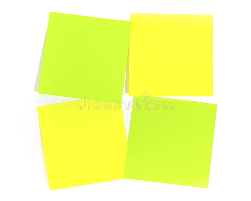 Post-it para a nota do lembrete imagens de stock royalty free