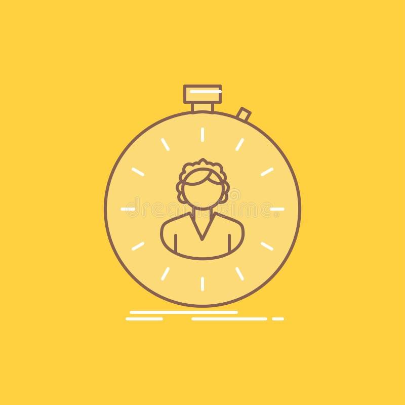 post, prędkość, stopwatch, zegar, dziewczyny mieszkania linia Wypełniał ikonę Pi?kny logo guzik nad ? ilustracja wektor