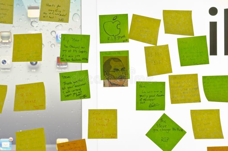 Post-it a ricordare Steve immagini stock libere da diritti