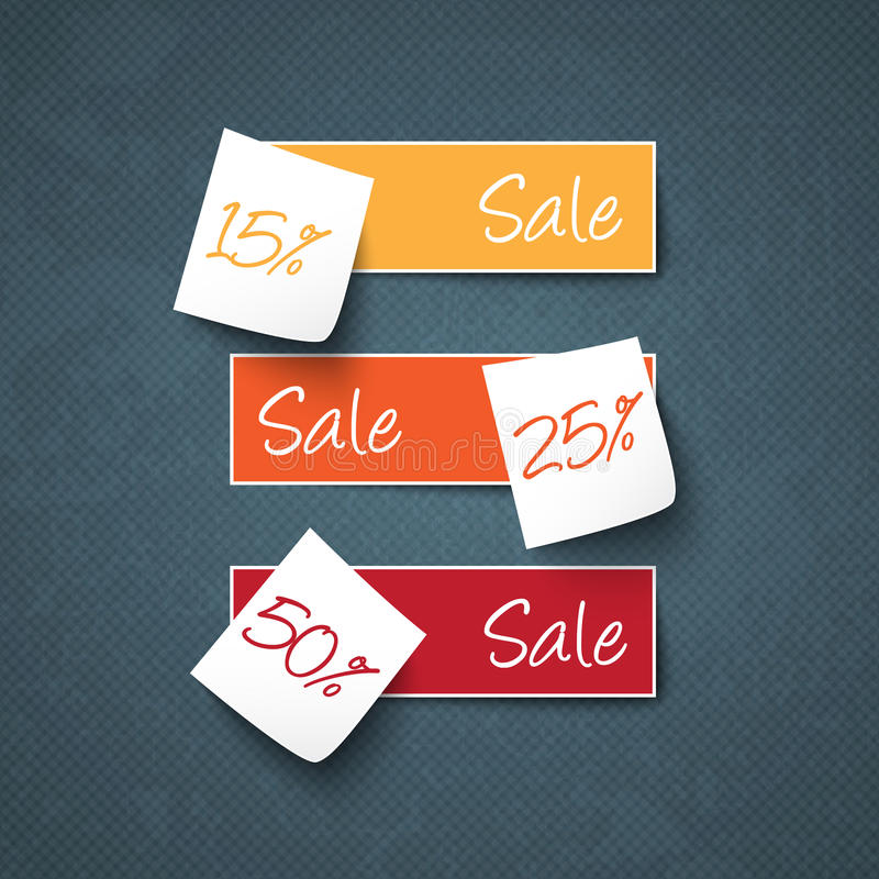 Post it sale signs stock illustration