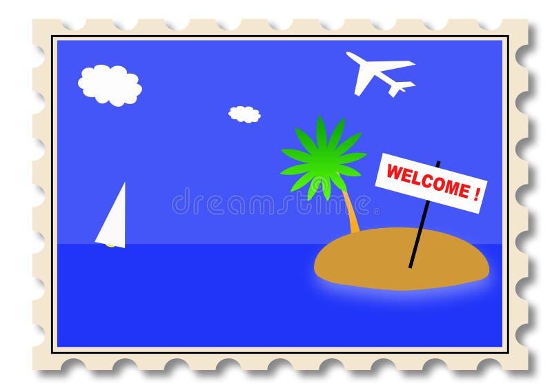 Download Post stamp illustration stock illustration. Image of journey - 5169584