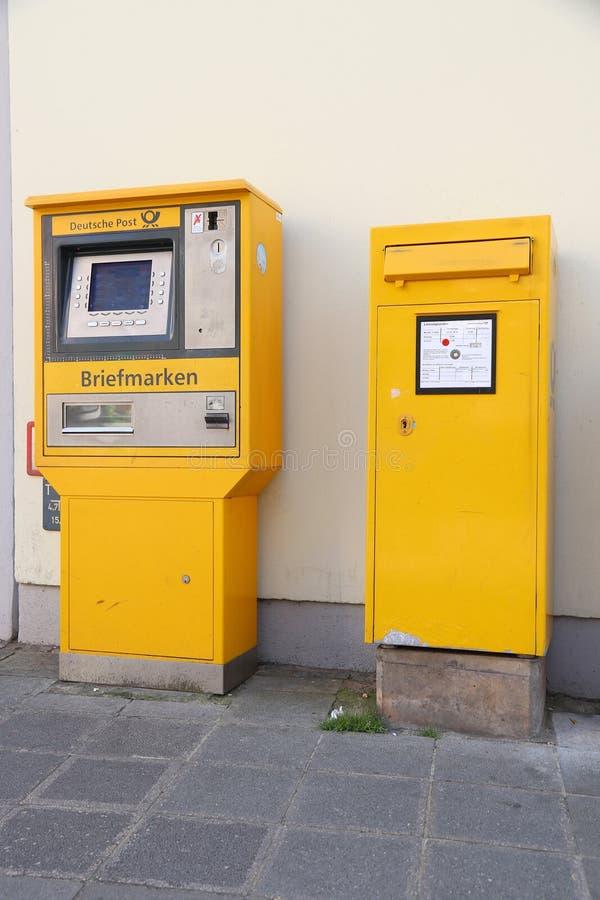 Post stamp vending machine stock image