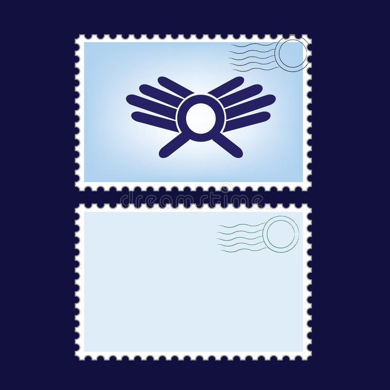 Post stamps. Vector illustration of a blanks post stamps vector illustration