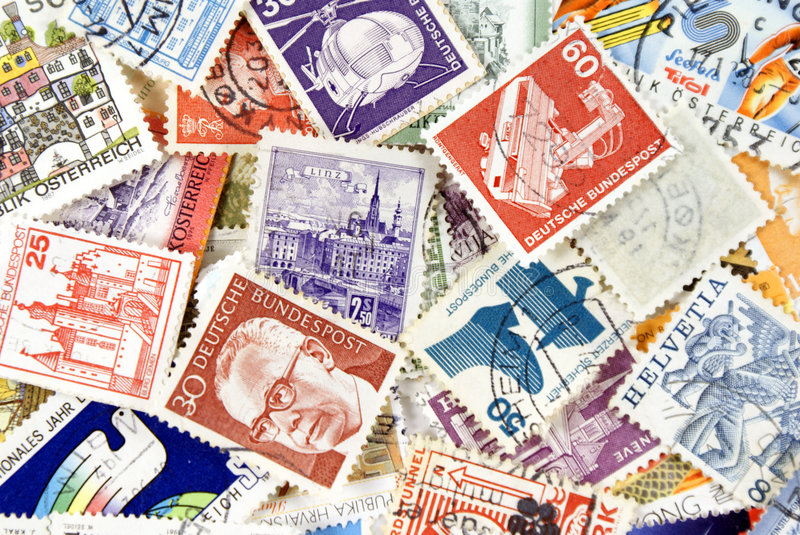 Post Stamps Stock Photography
