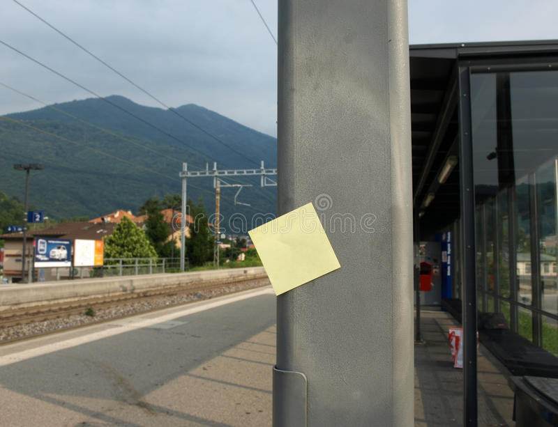 Download Post-it and station stock photo. Image of rail, arrival - 25829550