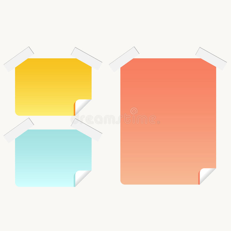 Download Post-it Sticky Notes stock vector. Illustration of stickies - 9581213