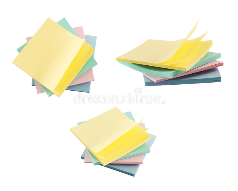 Post-it sticky notes composition