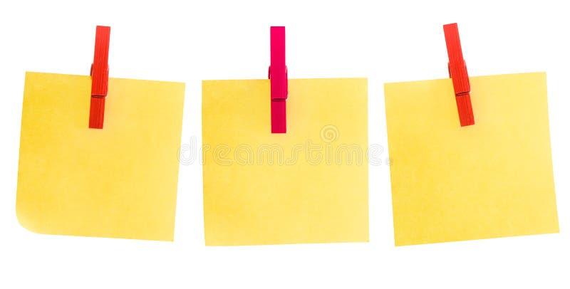 Post-it três imagem de stock