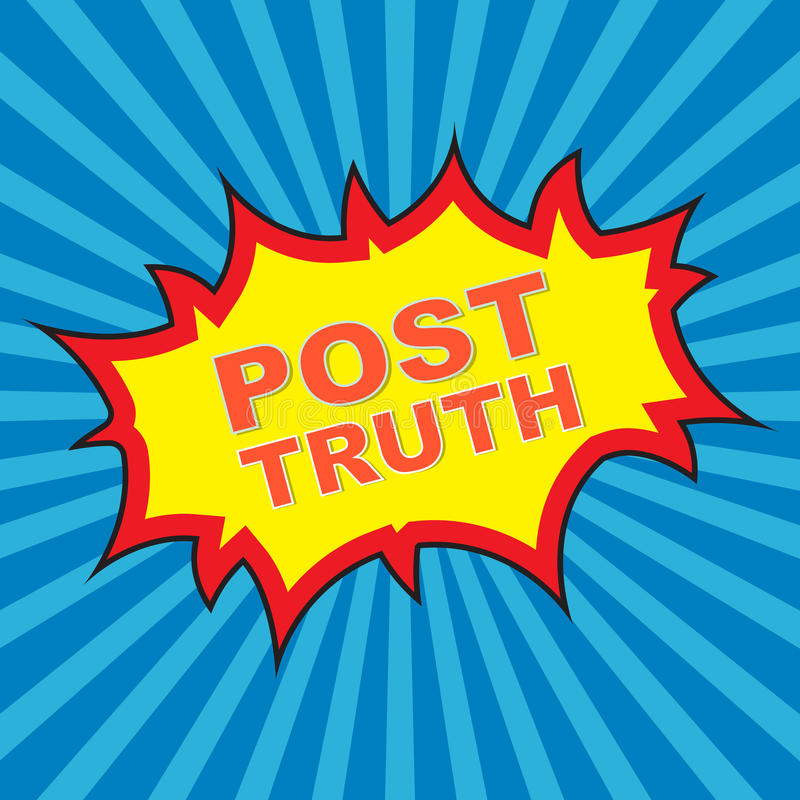 Post Truth stock photo