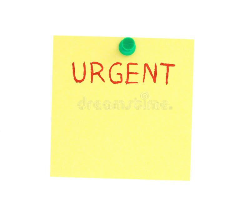 Post-it urgente imágenes de archivo libres de regalías
